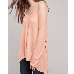 Anthropologie Deletta pale pink Millipa sweater